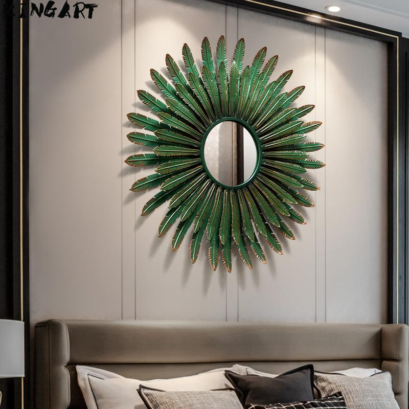 Wall Decoration Mirror Big Home Decorative Mirror Wall Craftswork Hotel Home Livingroom Wall Hanging Mirror Big Ornaments Mirror|Decorative Mirrors|   - AliExpress