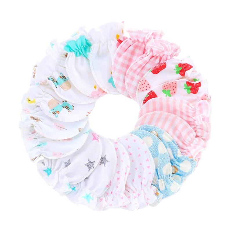 Новинка 2020, 10 пар/комплект, детские перчатки для новорожденных, детские перчатки, варежки, хлопковые, очень мягкие, милые, против царапин, пер...