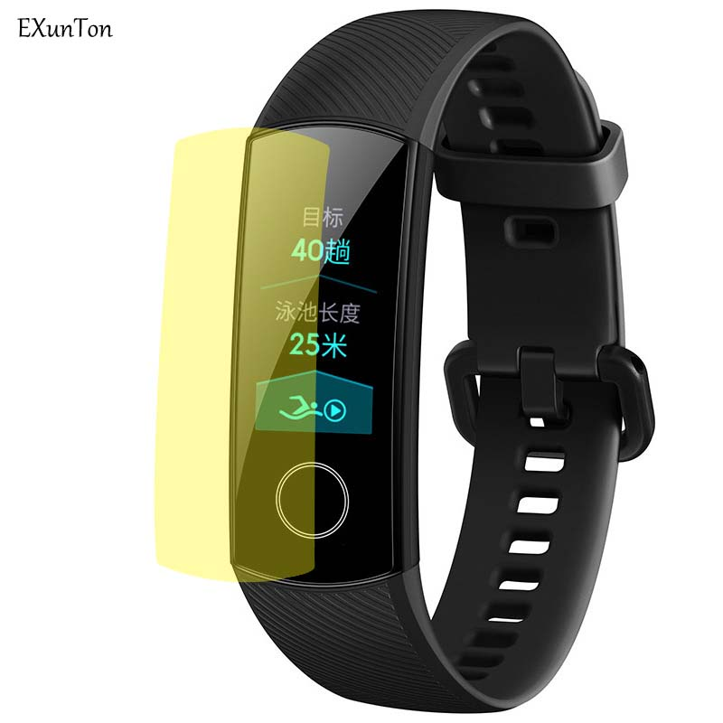 EXUNTON 5PCS/Lot Anti Scratch Soft TPU Film For Huawei Honor Band 4 Protective Running Screen Protector