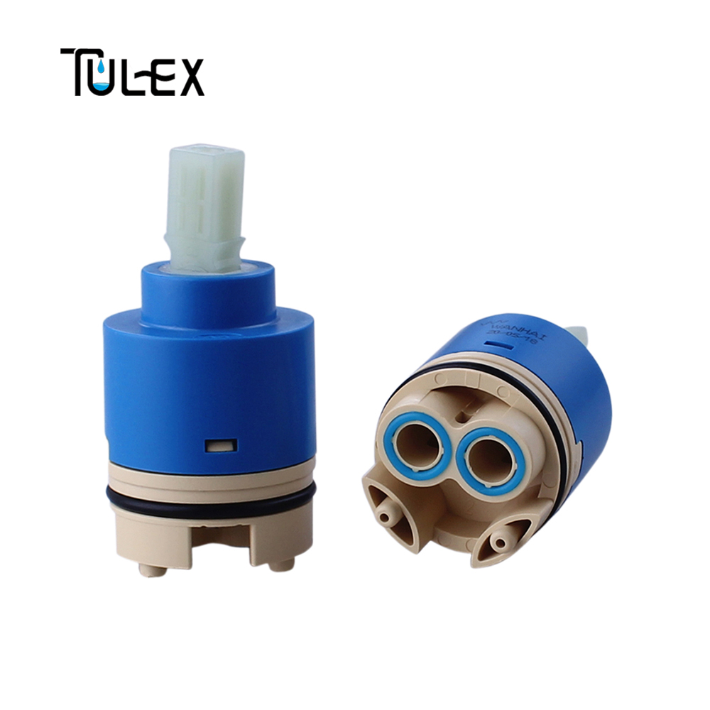 TULEX 40mm Ceramic Disc Faucet Cartridge With Distributor With Filter Faucet Valve Core Replacement Part Bathroom Accessories