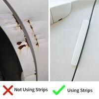 Baseus 4Pcs Car Door Guard Protector Door Edge Trim Guards Anti-Collision Strip Car Styling Moulding Anti-Scratch Sticker