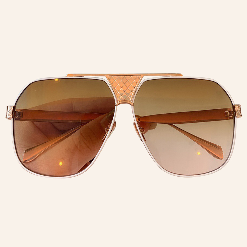 Oversize Square Sunglasses Men Vintage Brand Designer Metal Frame High Quality Sun Glasses UV400