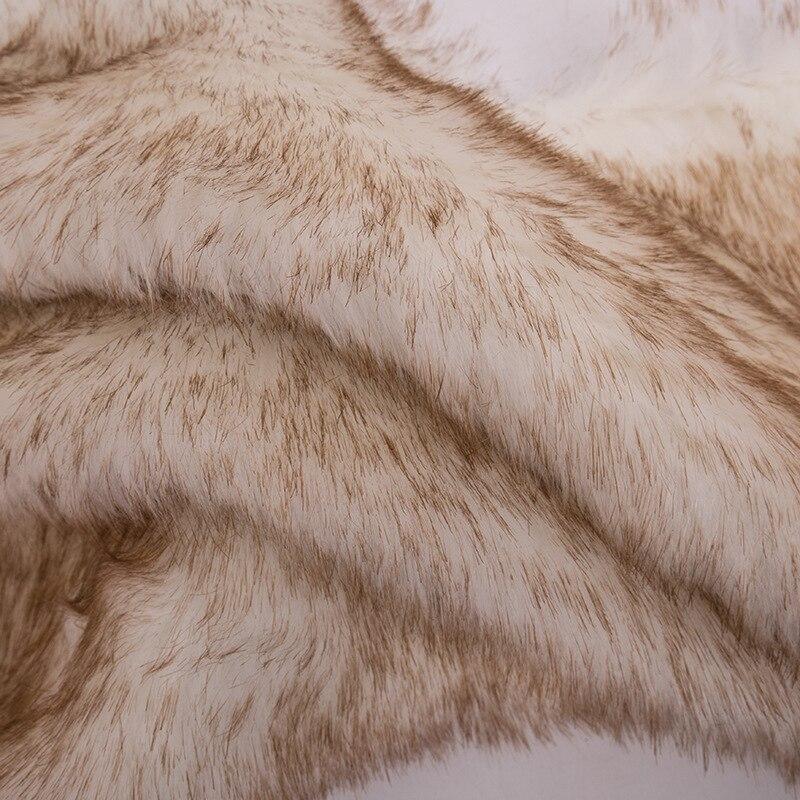 160*100cm fourrure de lapin fausse peluche tissu pour manteau oreiller col roulé maison couverture 3cm longue pile peluche fourrure tissu telas - 2