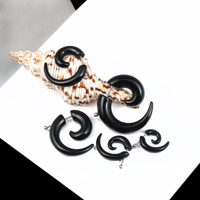 2019 New 6mm Shaped Black Ox Horn Drop Dangle Earrings Fashion Jewelry For Man.jpg 640x640 - 2019 New 6mm Shaped Black Ox Horn Drop Dangle Earrings Fashion Jewelry For Man