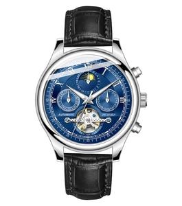 Image 5 - Senors Mannen Automatische Horloge Echte Horloge Mannen Automatische Mechanische Tourbillon Horloge Luxe Fashion Rvs Sport Horloges