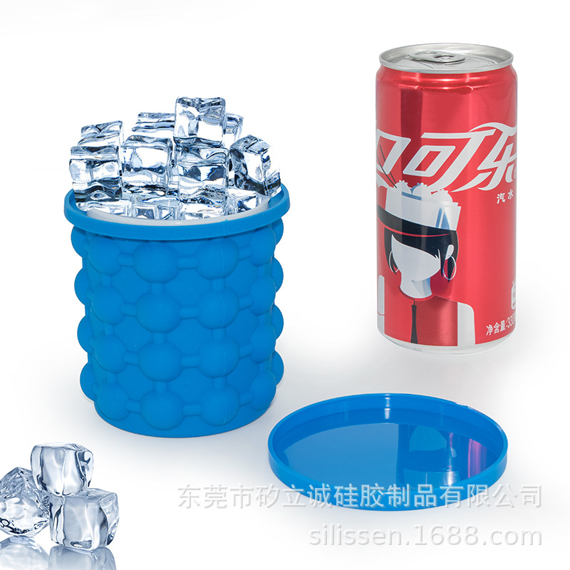 2018 Cross Border Hot Selling Silicone Ice Bucket TV Ice-making Cup Maker Silicone Ice Bucket Hot Selling Ice Cubes Storage Sili