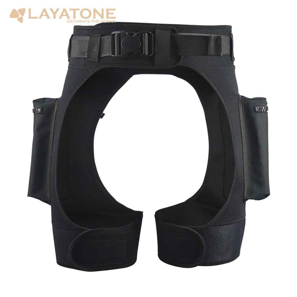 Layatone 3 Mm Neoprene Wetsuit TECH Celana Pendek Submersible Beban Berat Pocket Perban Celana Scuba Diving Peralatan Aksesoris Gear
