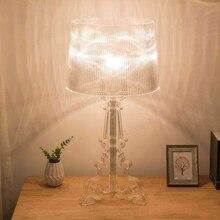 מודרני Ghost צל ברור שקוף אקריליק שולחן מנורות אור מחקר מיטת חדר שינה אקריליק שולחן מנורות פשוט אור