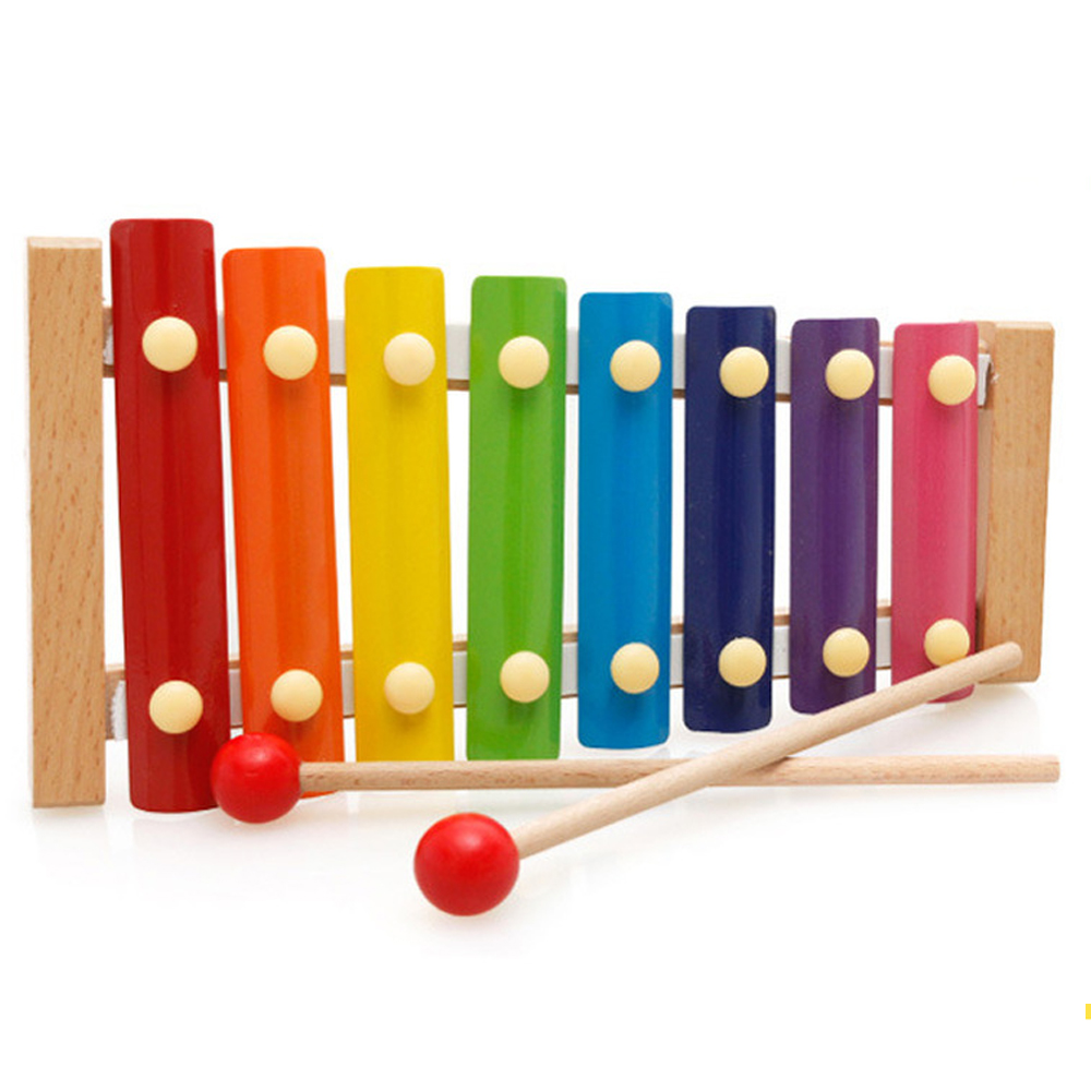 8-Note Music Instrument Toy Wooden Frame Xylophone Children Kids Toys Baby Educational Toys Gifts With 2 Mallets N2950n10