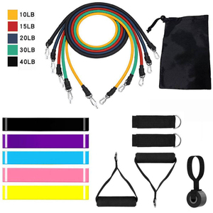 17pc Resistance Bands Set Expander Yoga Exercise Fitness Rubber Tubes Stretch Training Home Gym Workout Elastic Pull Rope Sports