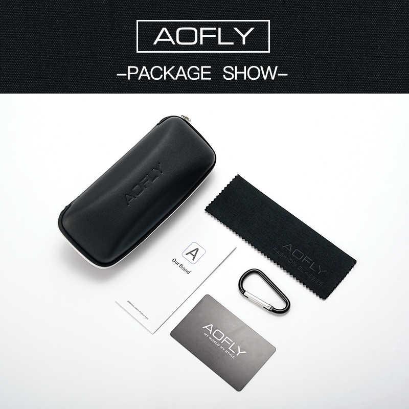 Aofly marca design polarizado óculos de sol dos homens vintage condução clássico óculos de sol feminino tr90 quadro uv400 af8101