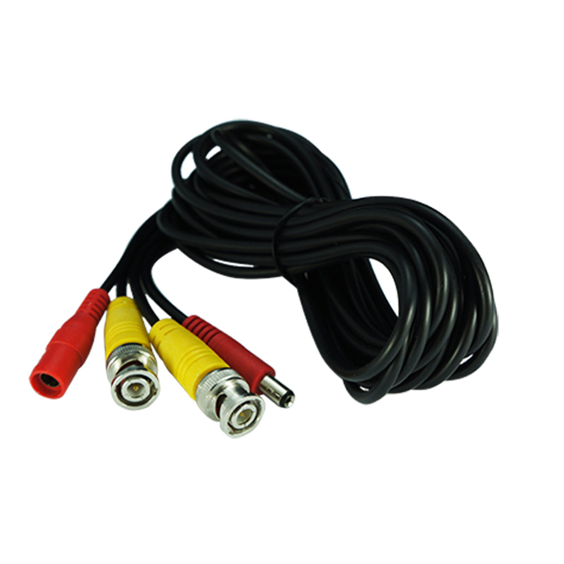BNC+DC Video Cable 5 Meter For CCTV Camera And Security DVR Recording