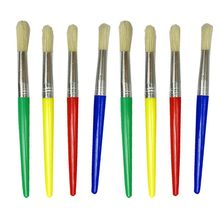 16 Pieces Large Paint Brushes with Painting Tray for Children's Assorted Color