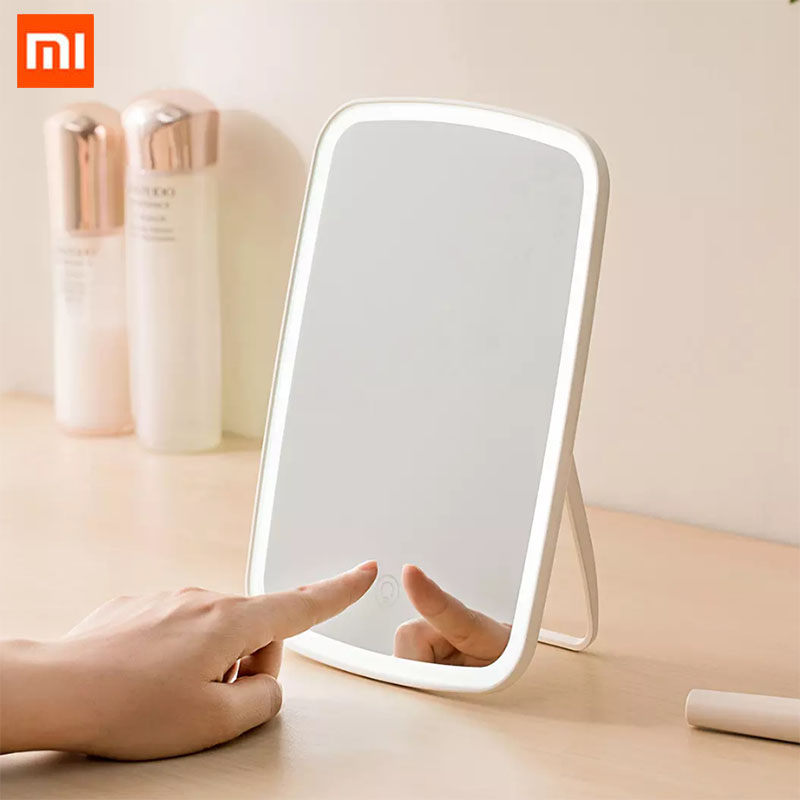 Xiaomi Jordan Judy LED Makeup Mirror Smart Portable Desktop Led Light Mirror Touch Control Long Life Battery Life Android Phone|Smart Remote Control| - AliExpress