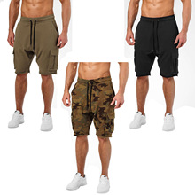 New Style Muscle Brother Fitness Healthy Beauty Shorts Sports Casual Men Camouflage Shorts Running Training Shorts men s camouflage style lace up slimming elastic shorts