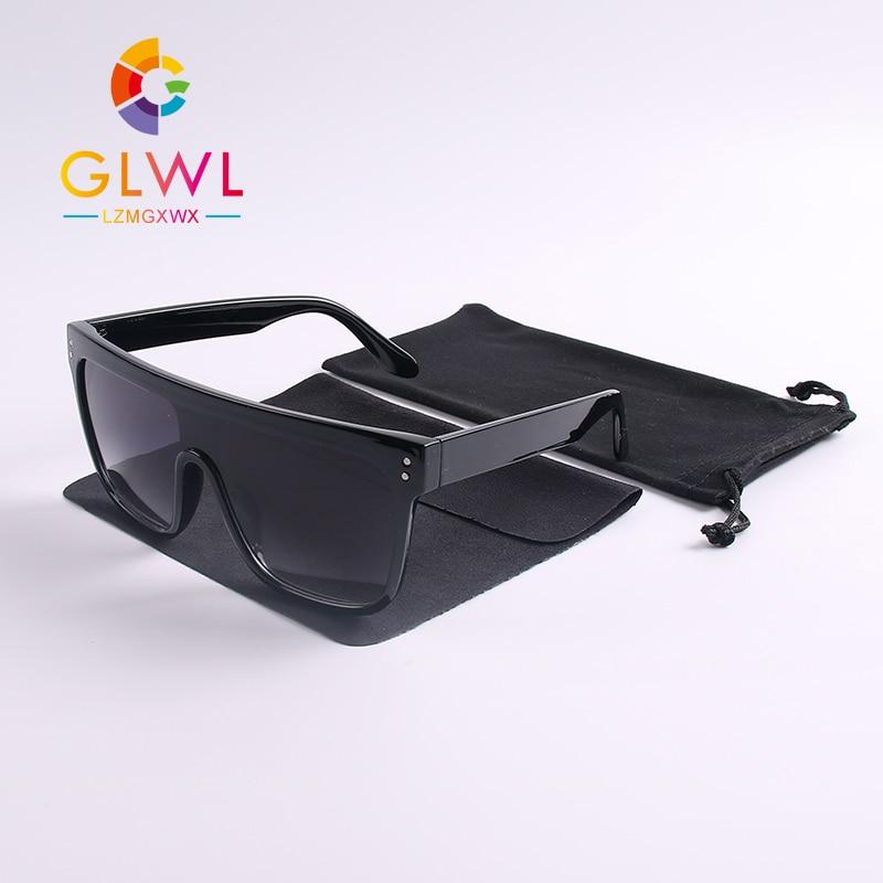 Oversized Sunglasses Women Gradient Sun Glasses Woman Square Big Frame Ladies Sunglases Luxury Designer Eyeglass For Woman Brand