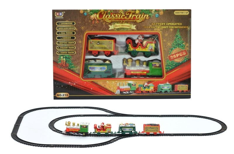 DIY Assembled Electric Camera Track Car Classical Christmas Children Electric Model Rail Train Christmas Train Gift