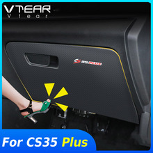 Vtear For Changan CS35 Plus Glove box anti kick cover Car Frame styling stickers interior decoration Trim accessories parts 2020