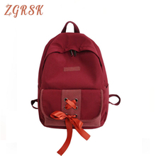 Women Fashion Nylon Backpack Bagpack Teenagers Students Bookbag Large Capacity Campus Schoolbag Girls Casual Backpacks Bag fashion patchwork back pack women bag nylon printing teenagers girls backpack schoolbag female large bagpack contrast color