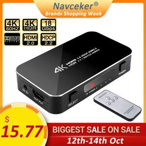 Image 1 - 4 ports 18gbps HDR 4K Commutateur HDMI 4x1 Support HDCP 2.2 Mini HDMI 2.0 Commutateur HUB Boîte Avec Télécommande INFRAROUGE Pour Apple TV