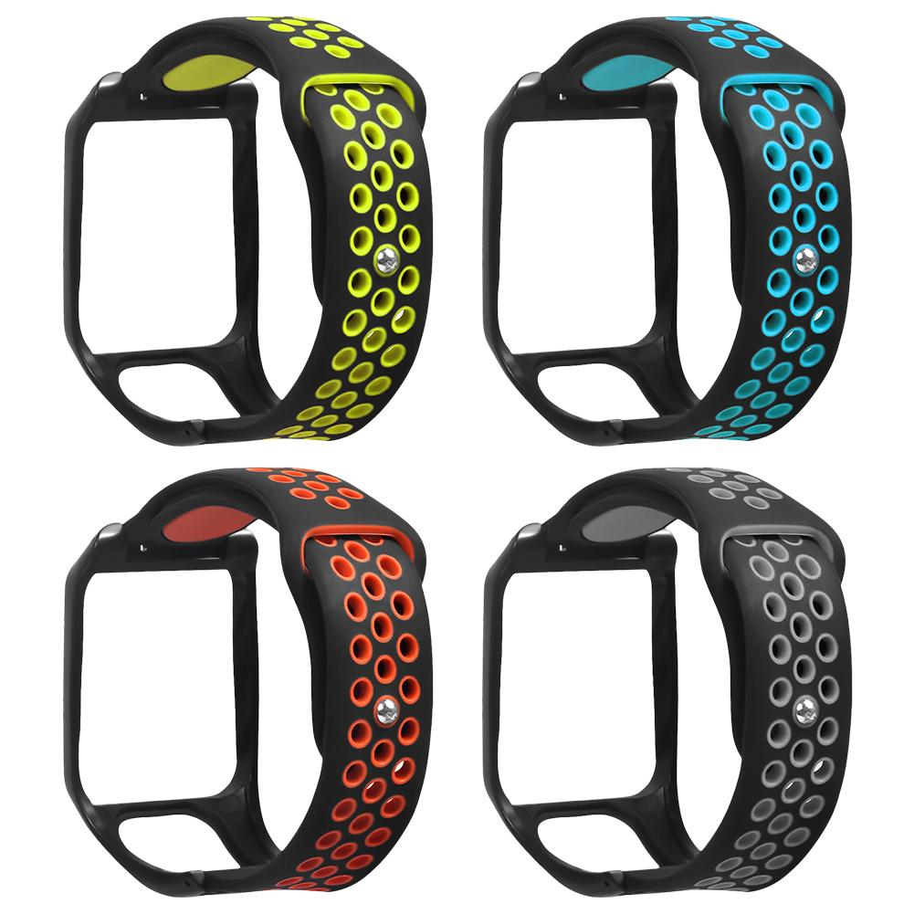 Silicone Replacement Watchband Wrist Band Strap For TomTom Runner 2 3 Spark 3 GPS Sport Watch Tom 2 3 Series Smart Band