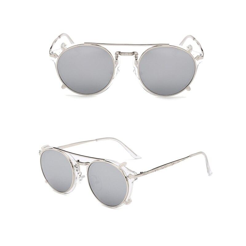 Image 2 - Fashion Round Glasses Clear Frame Women Spectacle Myopia Men EyeGlasses Optical Frames With Vintage Clip On Polarized SunglassesWomens Sunglasses   -