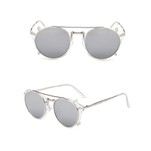 Image 2 - Fashion Round Glasses Clear Frame Women Spectacle Myopia Men EyeGlasses Optical Frames With Vintage Clip On Polarized Sunglasses