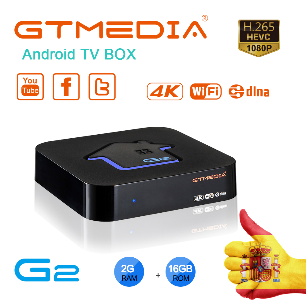 GTMEDIA G2 Smart TV Box Android 7.1 2GB 16GB S905W H.265 HDCP 4K Wifi Netflix Google Set top Box Media Player IPTV Android Box