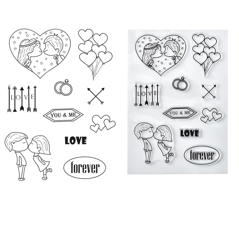 Love Heart Ballon Clear Stamps 2019 Rubber Transparent Silicone Seal for DIY Scrapbooking Photo Album Decorative Stamp Crafts