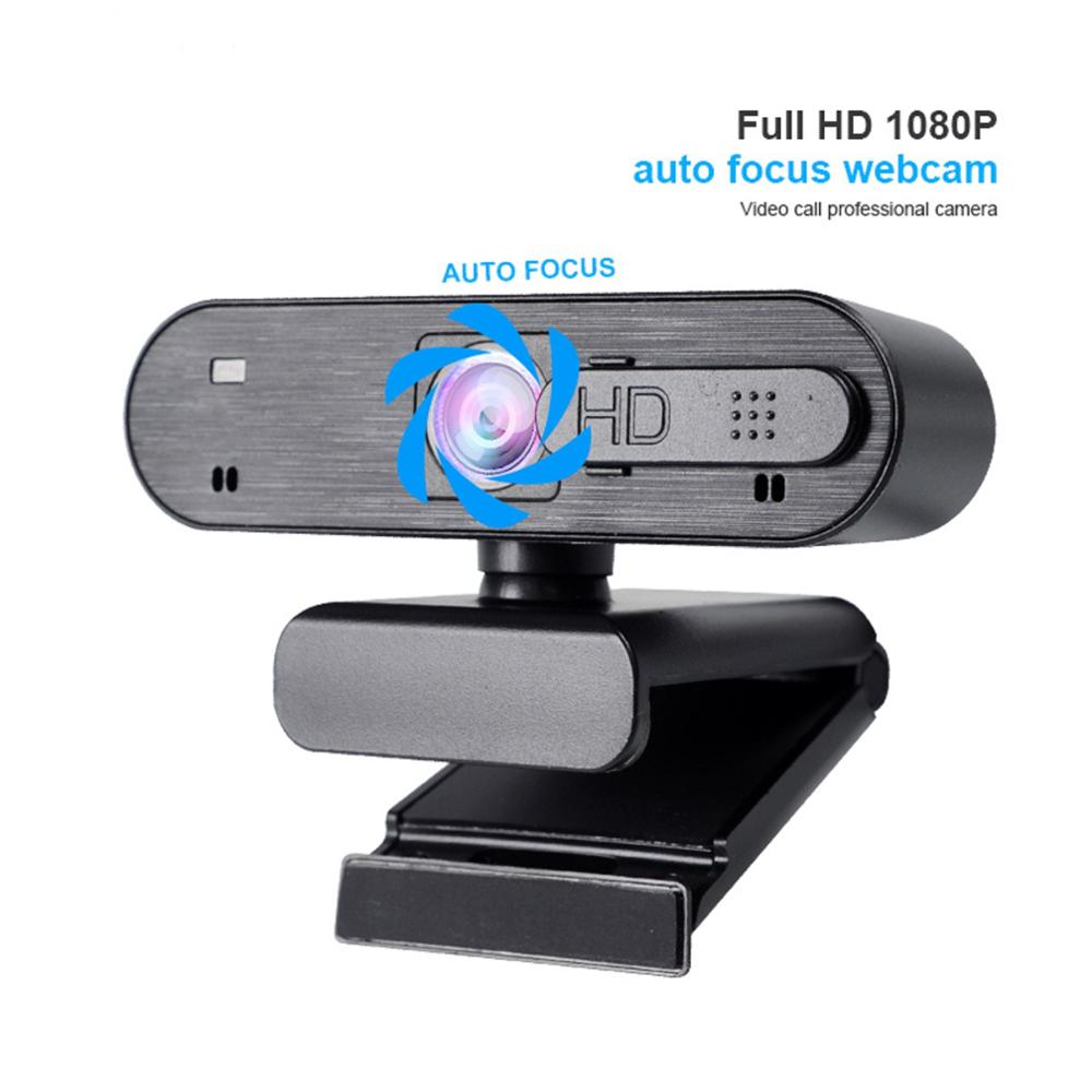 HD1080P Anti-voyeur Computer Webcam Anti-peeping Adjustable Camera via For Live Broadcast Video Call Recording Conference Work image