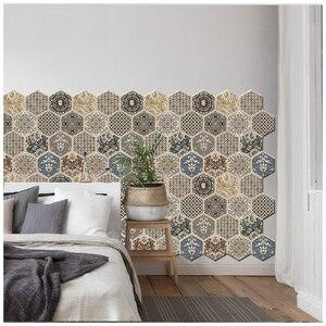 Lychee жизнь 3D под дерево наклейки на стену в виде многоугольника, мозаика палку плитки DIY искусство ремесла домашнего украшения Материал