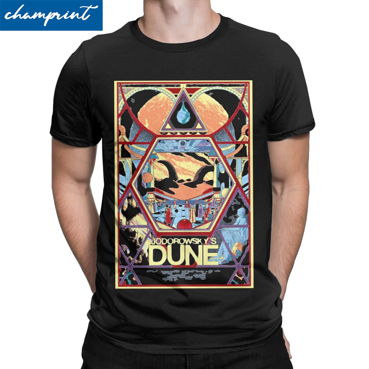 Jodorowsky's Dune Documentary Movie Poster T-Shirts for Men Creative Tee Shirt Round Neck Short Sleeve T Shirts Plus Size Tops image
