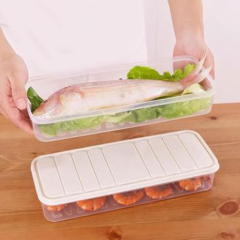 Food Preservation Refrigerator Plastic Storage Box Freezer Container with Lid image