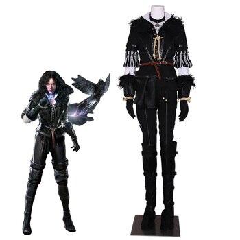 Hot Spiel Yennefer Cosplay Kostüm Wilde Jäger Outfit Halloween Kostüme für Frauen Nach Maß