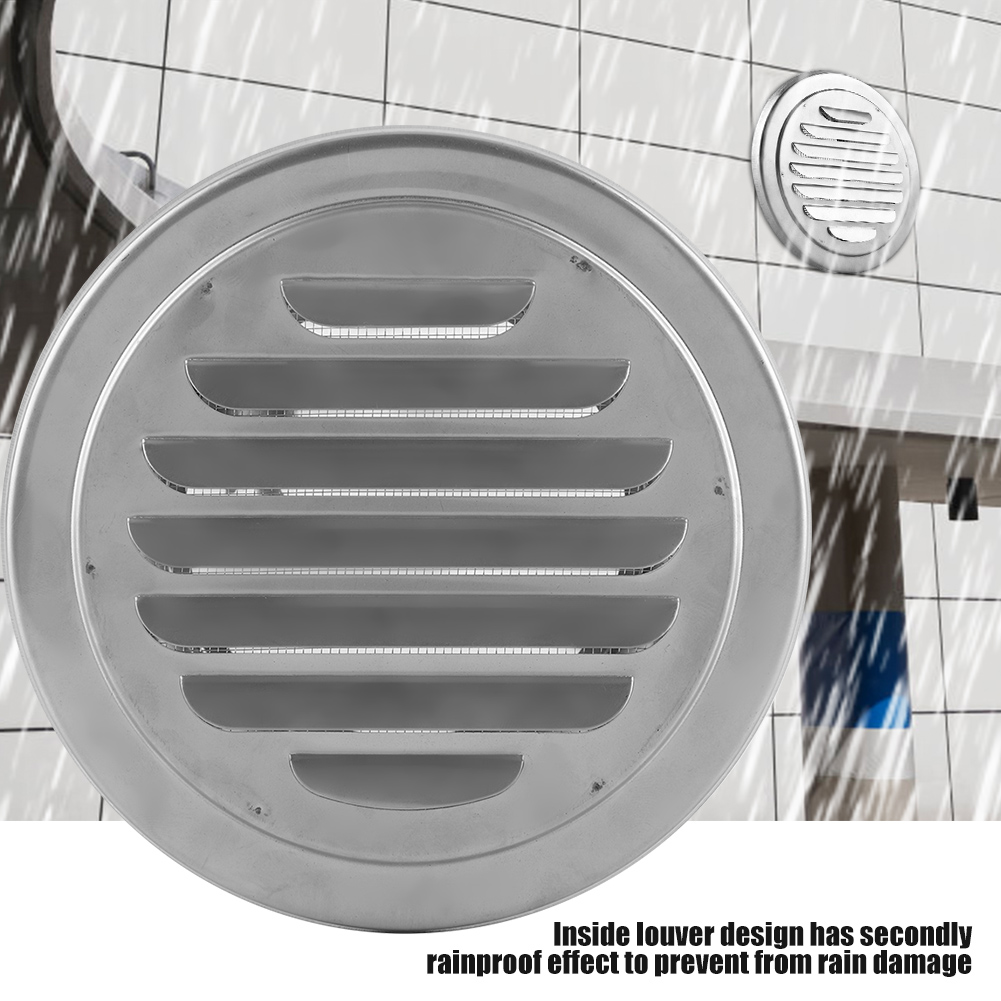 Stainless Steel Air Vent Grille Ducting Ventilation Cover 4//6 inch Ceiling Wall