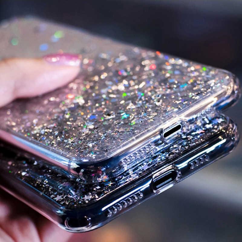 Bling Glitter Star Case For Samsung Galaxy A10 A20 A20S A30 A40 A50 A70 A80 A90 M10 S10E S10 S9 S8 A6 J4 J6 Plus A7 2018 Cover
