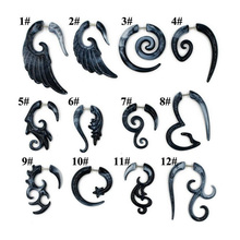 2pcs Acrylic Fake Cheater Twist Spiral Ear Taper Gauges Expander Earring plug Body piercing jewelry