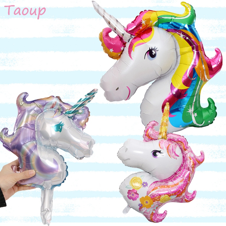 57cm Rainbow Unicorn Balloons For Unicorn Birthday Balloon Party 13