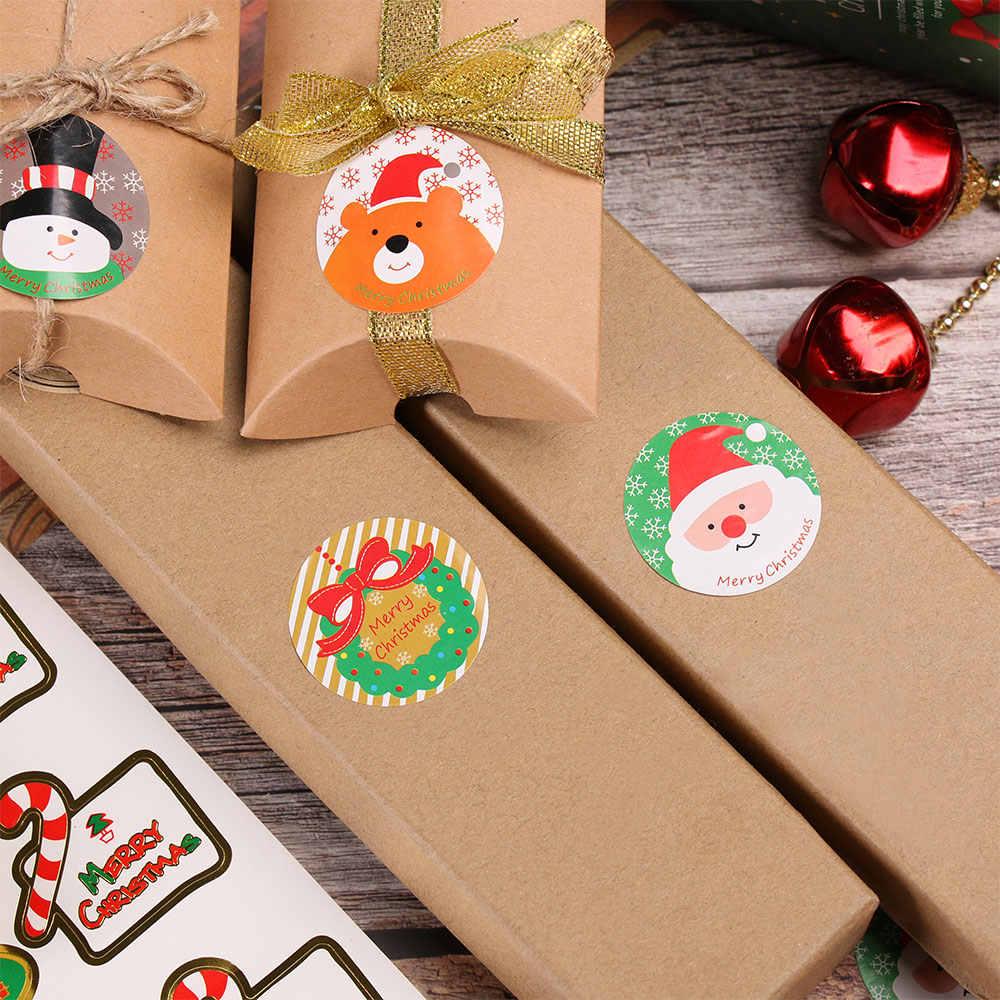 1PC Weihnachten Selbst Klebe Dicht Aufkleber Schreibwaren Geschenk Dekorative Aufkleber Backen Abdichtung Nette Dicht Aufkleber Büro Liefern