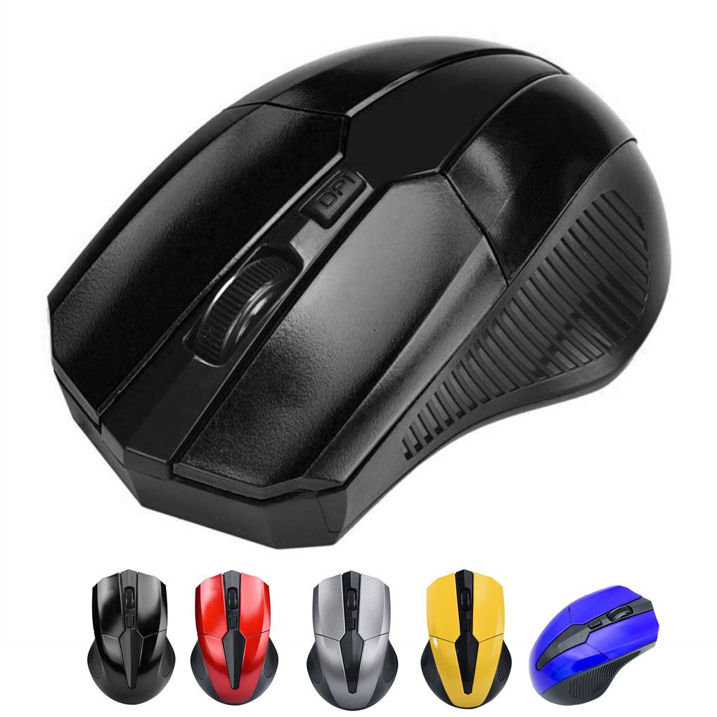 Wireless Gaming-Macro Mouse 4 Buttons 2000 DPI Ergonomics Gamer Mice PC Gaming Laptop Notebook