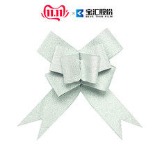 30pcs/lot glitter Gift Ribbons pull butterfly bows ribbon Wedding Events Decoration Christmas Gifts bow Decor package 1.8CM/3CM(China)
