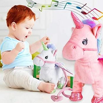 2019 śmieszne zabawki elektryczny chodzący pluszowy jednorożec wypchane zwierzę zabawka elektroniczna muzyka jednorożec zabawka dla dzieci prezenty świąteczne tanie i dobre opinie TKBOB-598364 Pp bawełna 8 ~ 13 Lat Urodzenia ~ 24 Miesięcy 14 lat 2-4 lat 5-7 lat Dorośli 31 cm-50 cm Zwierzęta i Natura