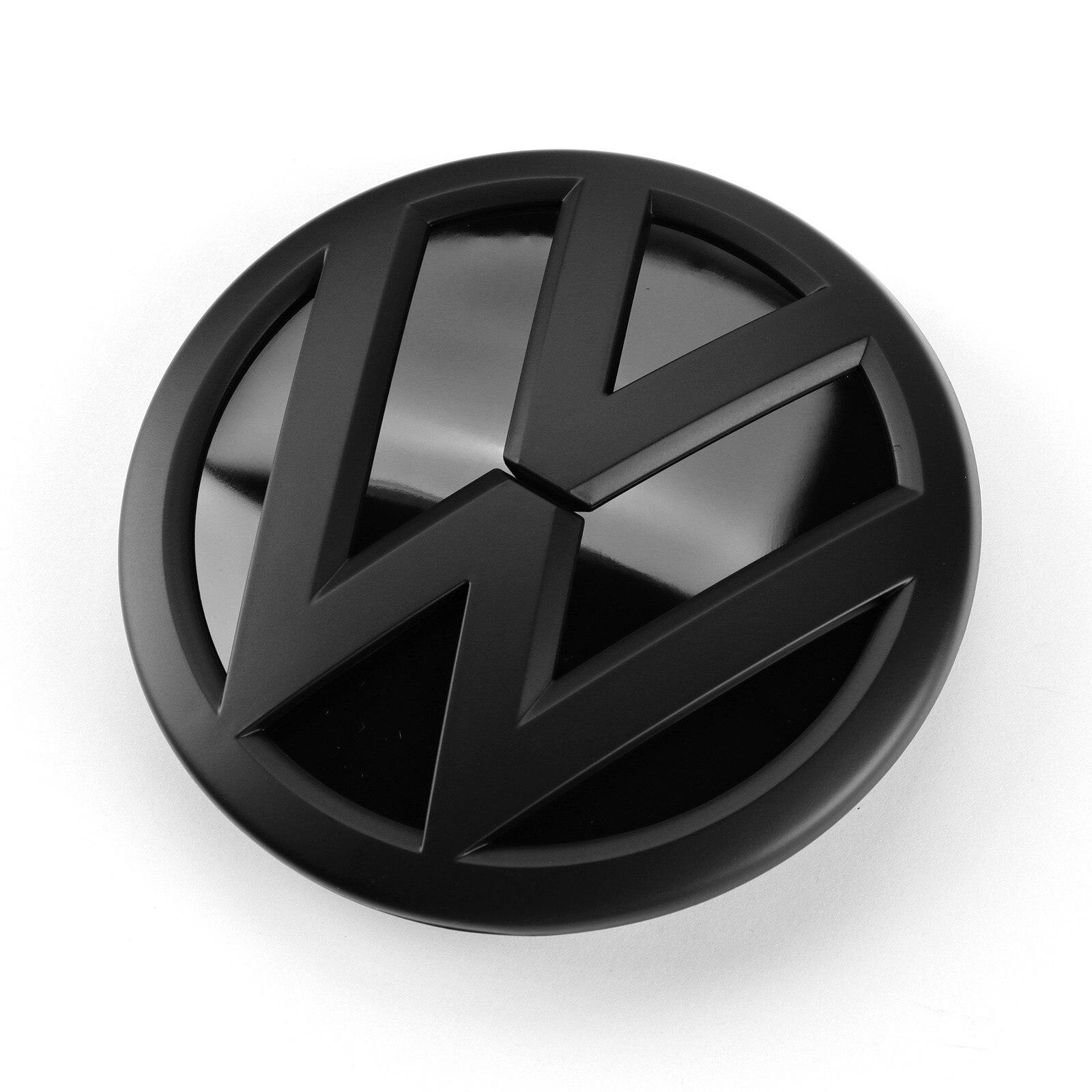117 мм глянцевый черный Передний гриль, бейж логотип эмблема, замена для VW Volkswagen Polo 2009 2010 2011 2012 2013