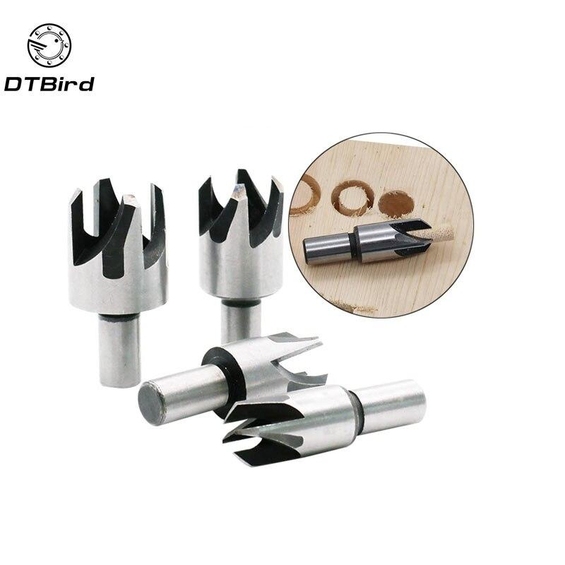 4pcs Wood Plug Cutter Cutting Tool Woodwork Plug Cutting Drill Bit Set Claw Cork Drill 5/8 1/2 3/8 1/4