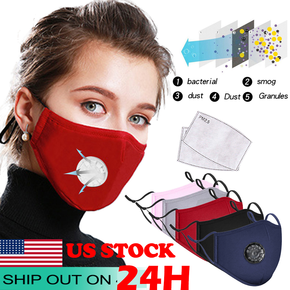 Cotton Black Mouth Mask Dust Mask Activated Carbon Filter Windproof Mouth-muffle Bacteria Proof Face Masks Care