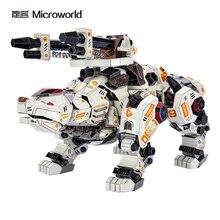 Microworld 곰 보물 왕 3d 금속 퍼즐 홈 인테리어 성인 컬렉션 선물 모델 지그 소 퍼즐 장난감 팬 컬렉션