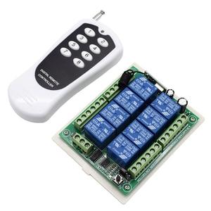 Image 3 - Transmisor receptor de sistema de Control remoto, interruptor de mando inalámbrico de radiofrecuencia de 12V, 24V CC, 8 canales, 8 botones, 433MHz, 8 canales