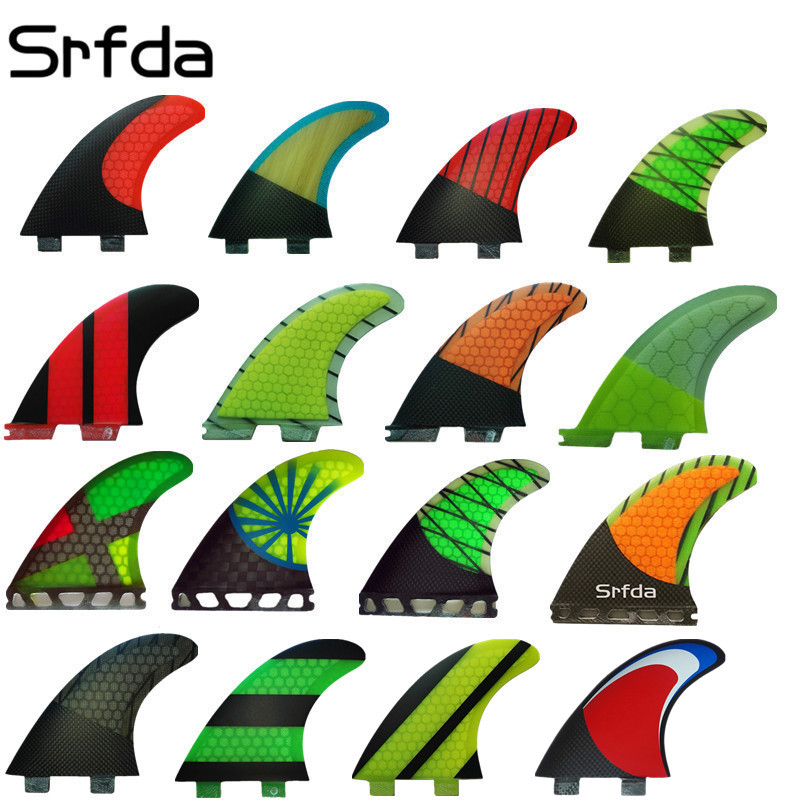 Srfda New Design Surfing Fcs Future Fcs Ii Fins FCS G5 Surfboard Fins With Fiberglass Honey Comb Material(three-set)