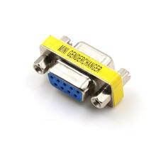 Мини переходник db9 9 контактный штекер штекер/гнездо гнездо/штекер