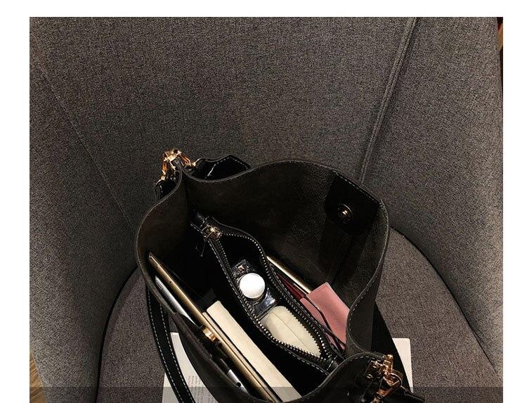 Bolsa mensageiro feminina balde bolsa de ombro